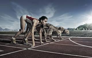 Weibliche Körper in Sportkleidung